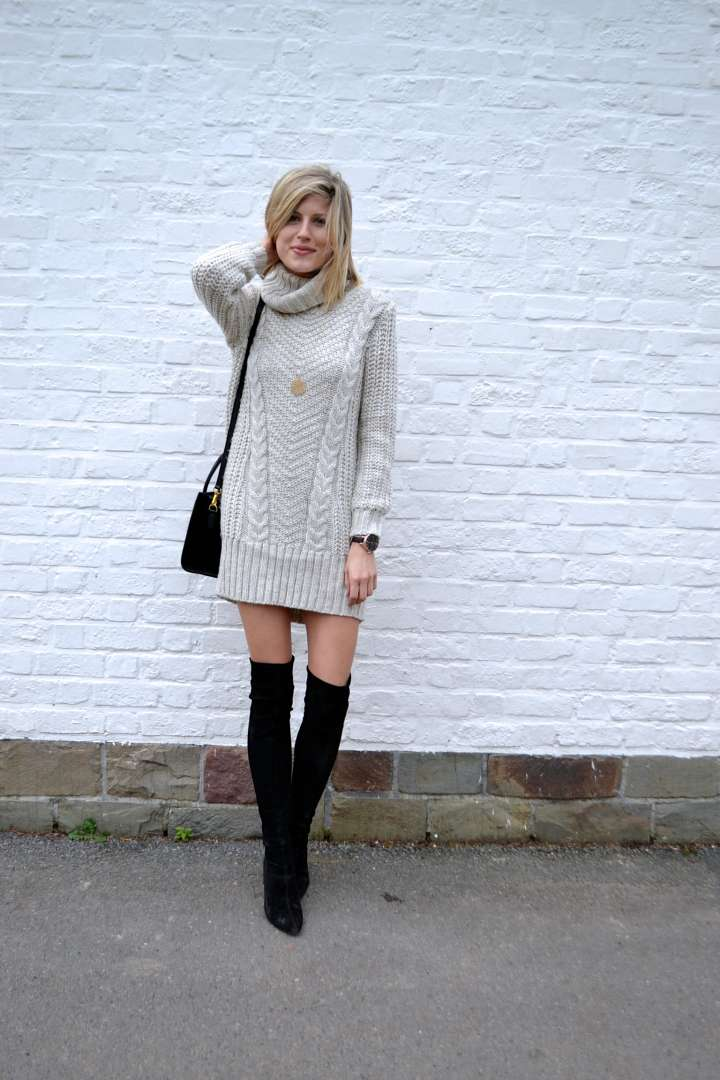 How To Style The Sweater Dress Some Nostalgic Blabla Made By F