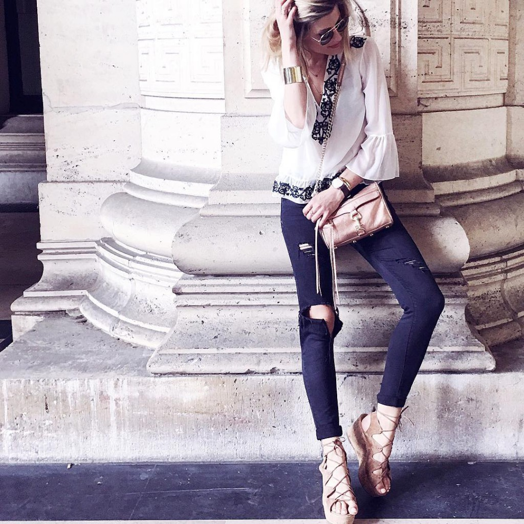 O O T D  Wearing my new Zara blousehellip