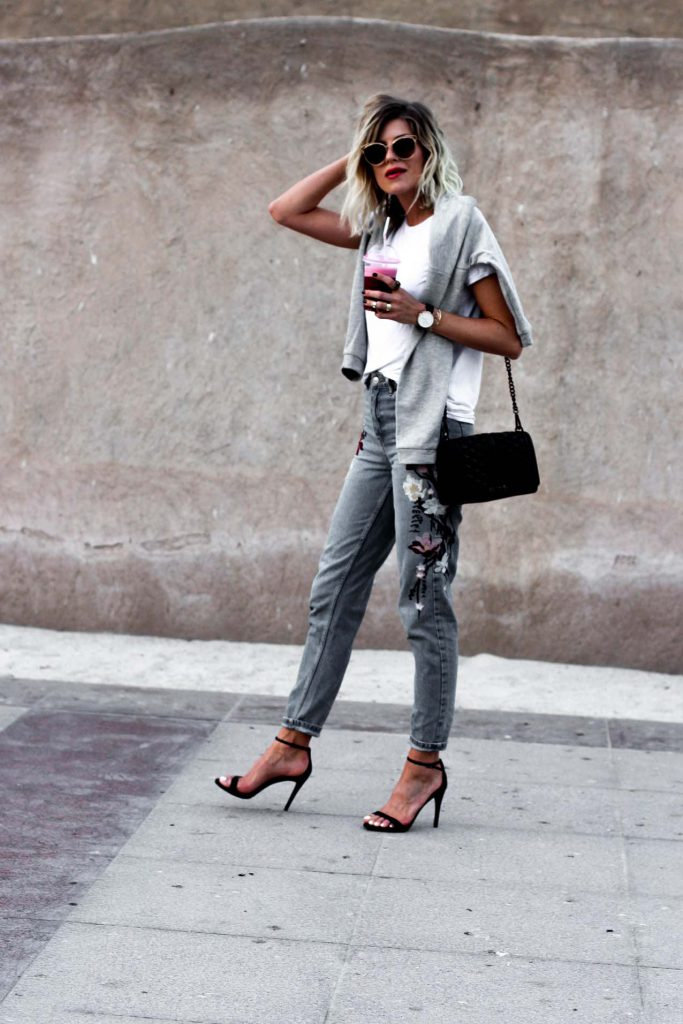 SPRING IS IN THE AIR: FLORAL MOM JEANS