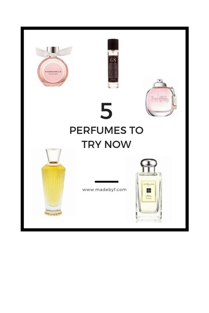 5 PERFUMES TO TRY NOW | 5 PARFUMS A DECOUVRIR ABSOLUMENT