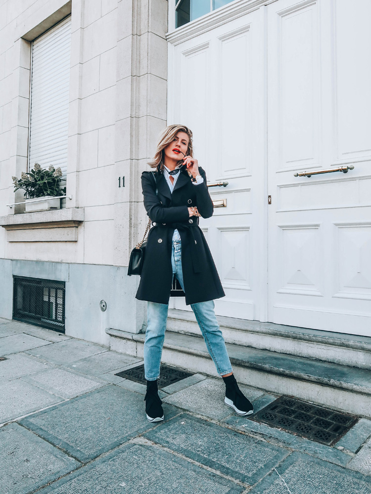 baskets chaussettes dupe balenciaga trench patrizia pepe must-have tendances made by f. brussels belgian blogger blogueuse mode