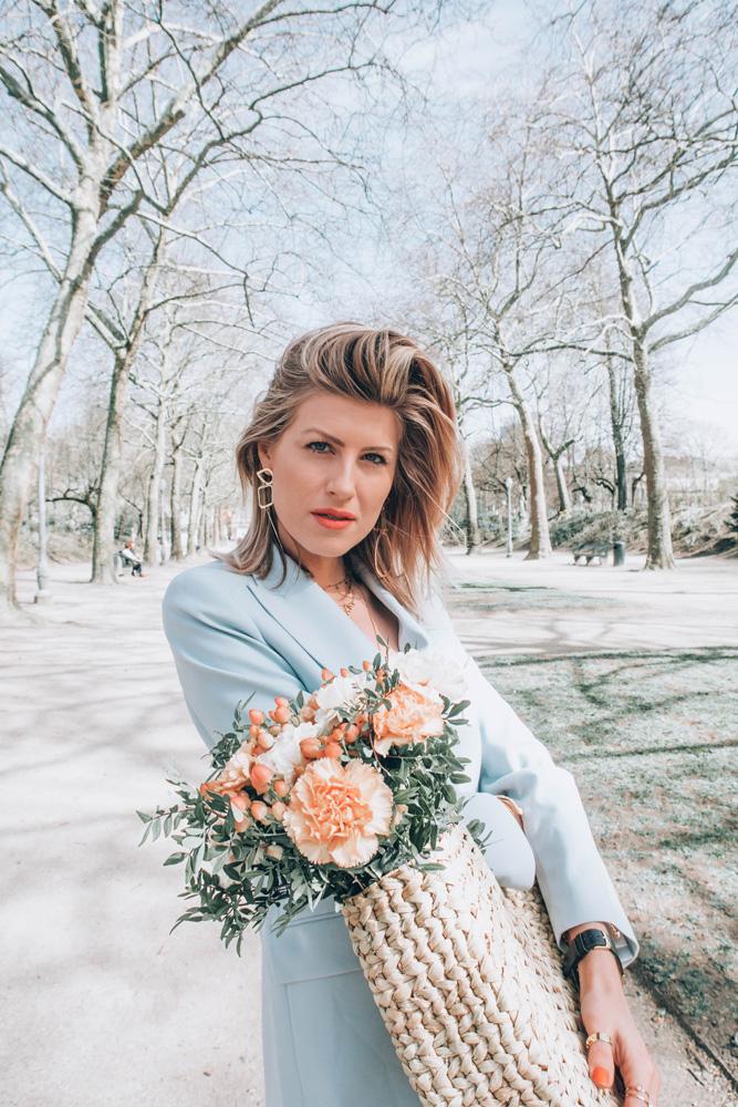 mariage printanier tailleur zara & other stories made by sarenza blogueuse belge mode française raisons de porter un tailleur