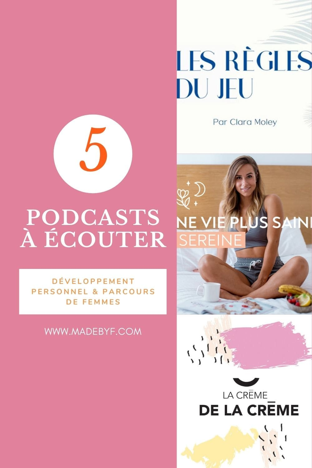 5 podcast écouter madebyf pin pinterest